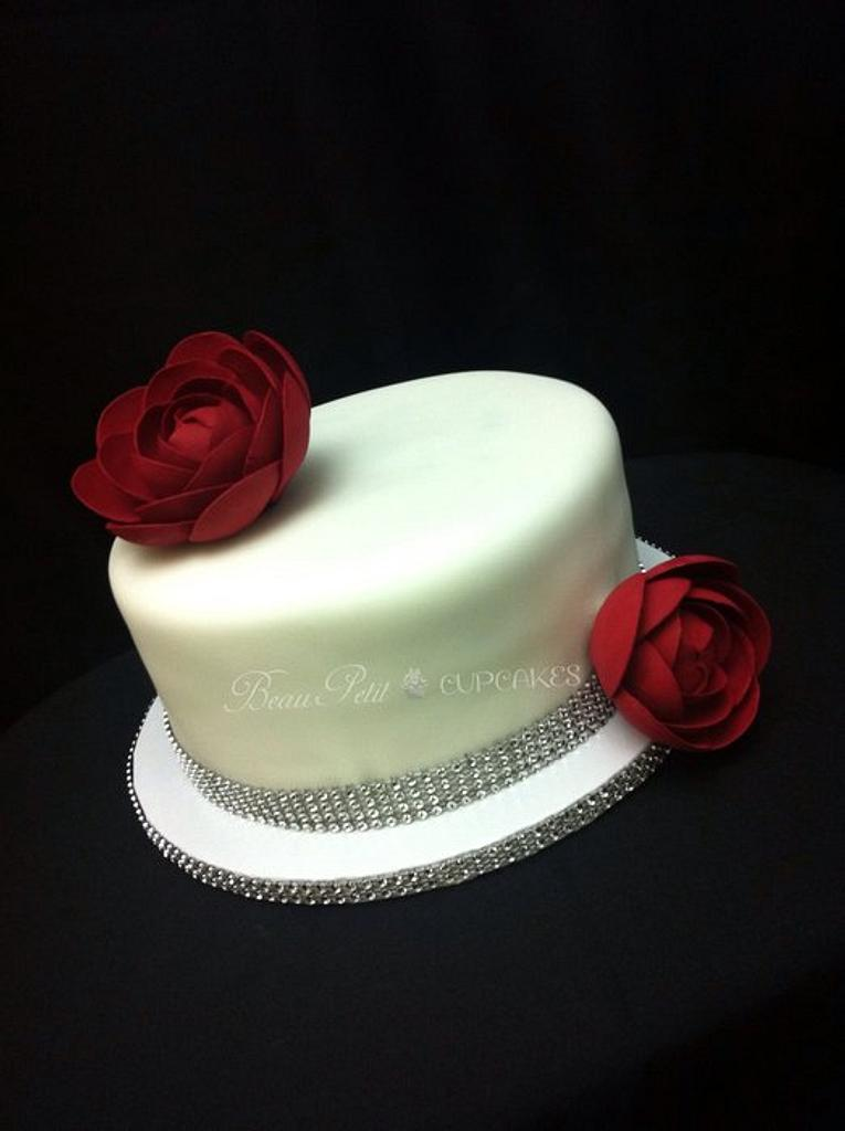 Elegant Rananculus Cake by Beau Petit Cupcakes (Candace Chand)