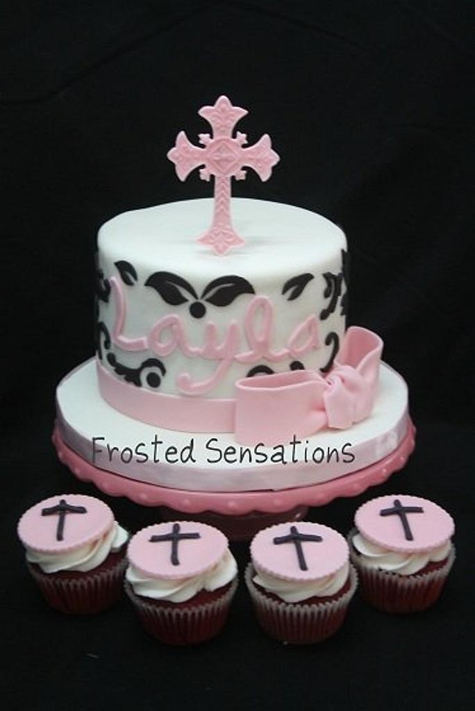 Baptism cake by Virginia