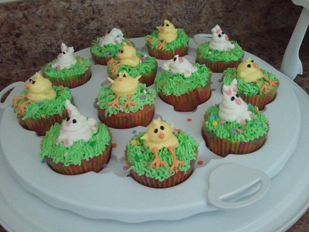 Easter/Spring  Cupcakes by Alecia