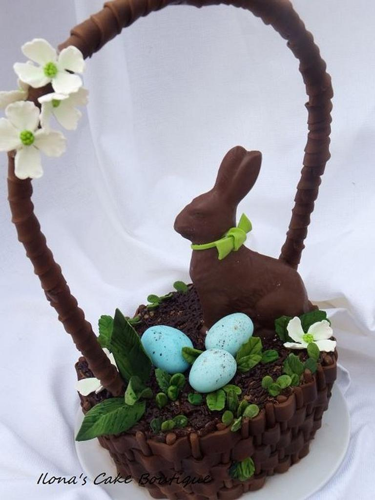 Happy Easter Basket by Ilona's Cake Boutique