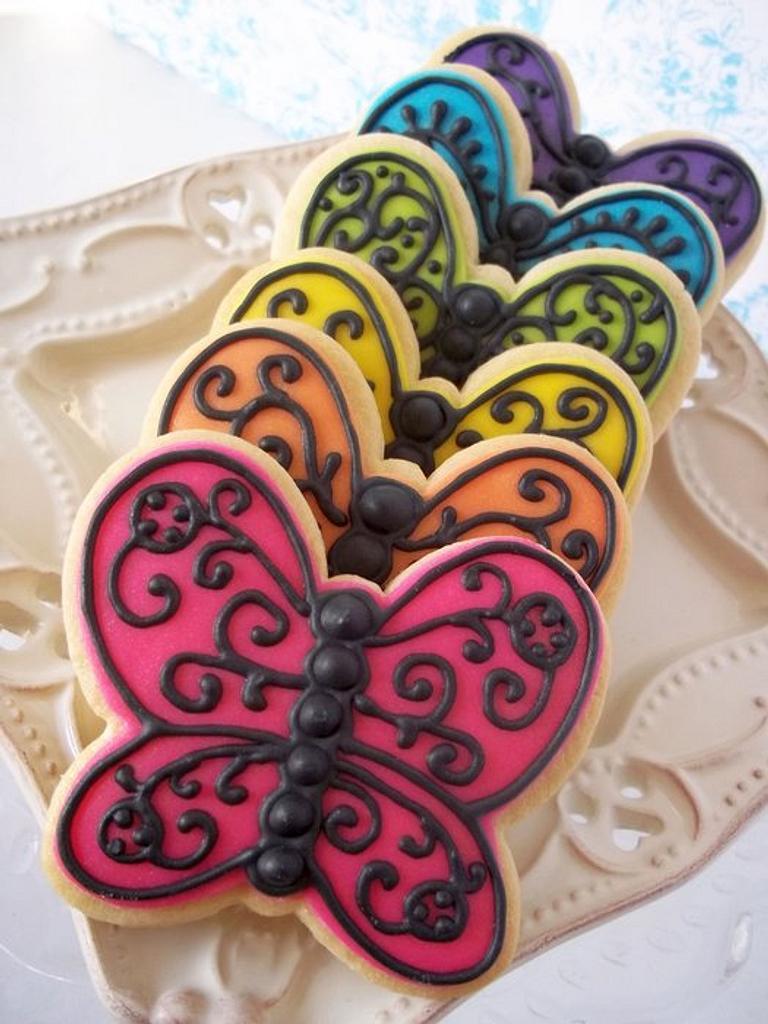 rainbow butterflies by Corrie