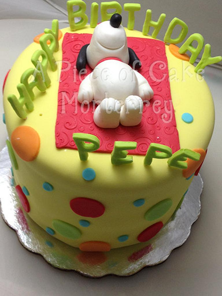 Snoopy Birthday Cake by Cake Boutique Monterrey