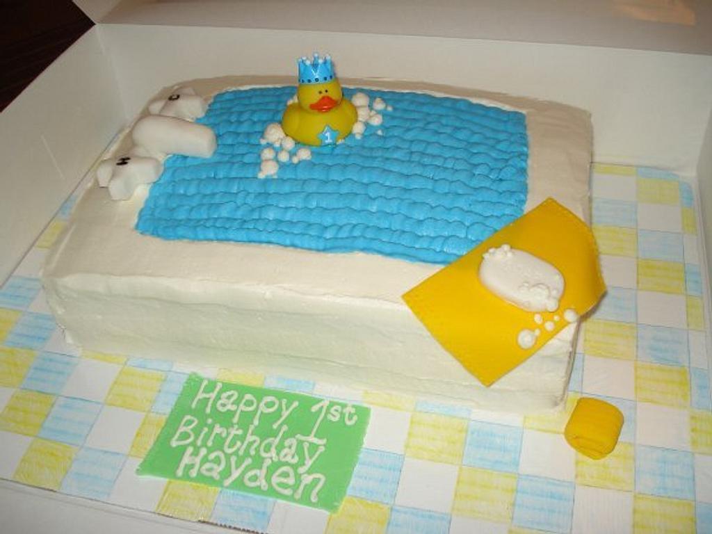 Ducky Bath Cake by ArtisticIcingCakes