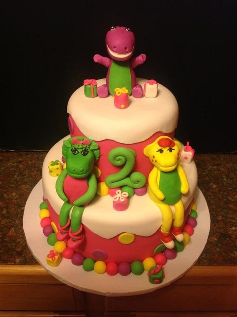 barney cake!!! by luz m sida