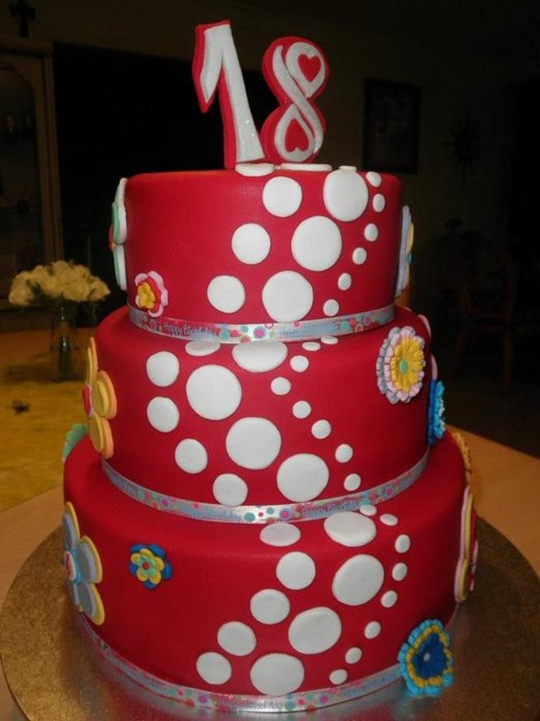 18th birthday cake for Angel by AlphacakesbyLoan