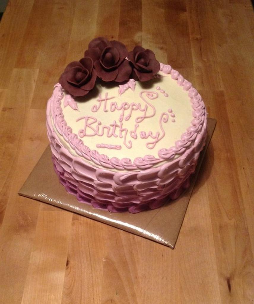 Purple Ombré Cake by Claudia Amezcua