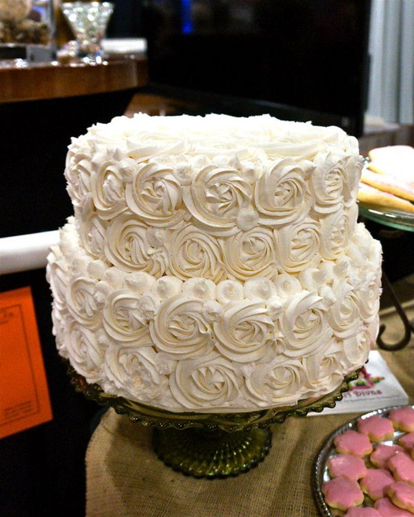 Buttercream Rose Cake by manda