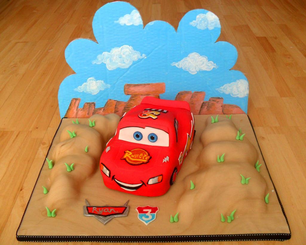 Lightning McQueen Cake by Becky Brine