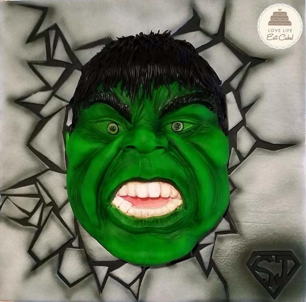 The Incredible Hulk - Baking for Superjosh collaboration  by Love Life, Eat Cake! by Michele