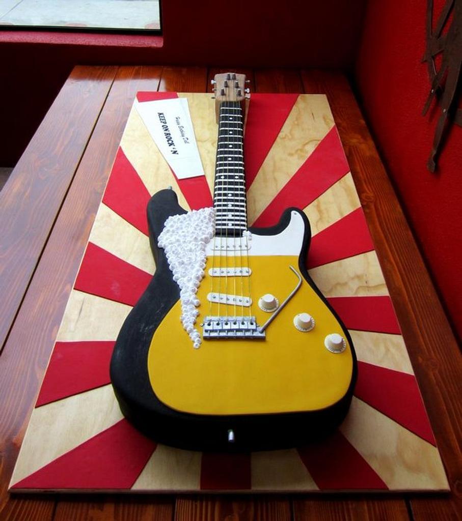 Rockin Guitar Bday Cake by Sweet Traders