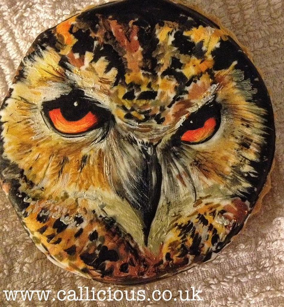 Handpainted Eagle on a cookie by Calli Creations