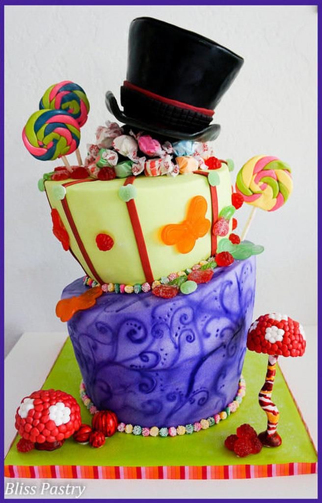 Wonka Inspired Topsy Turvy by Bliss Pastry