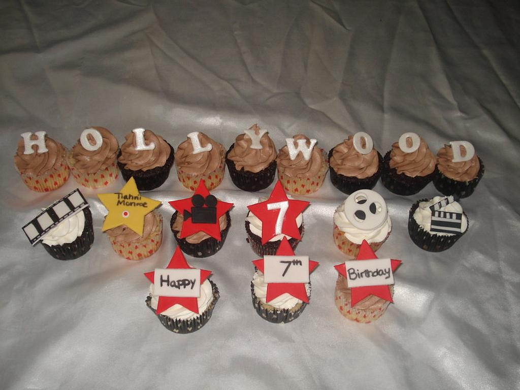 Hollywood Theme Cupcakes by Hakima Lamour