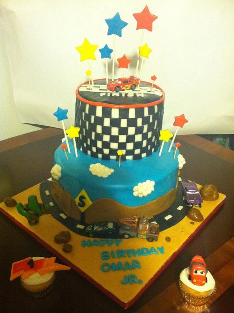 cars birthday cake by claribely trinidad