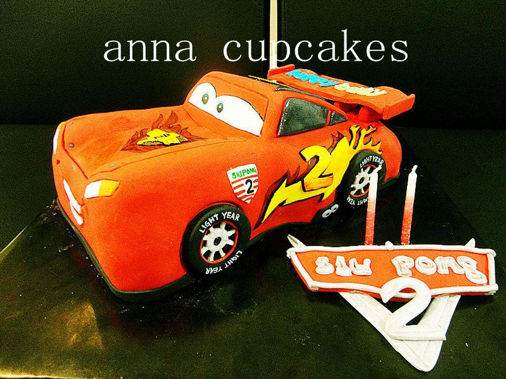 cars 2 mcqueen by annacupcakes