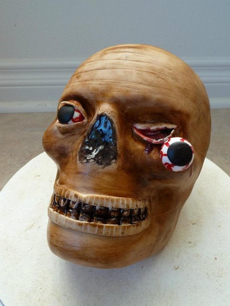 Creepy Head Cake by JB