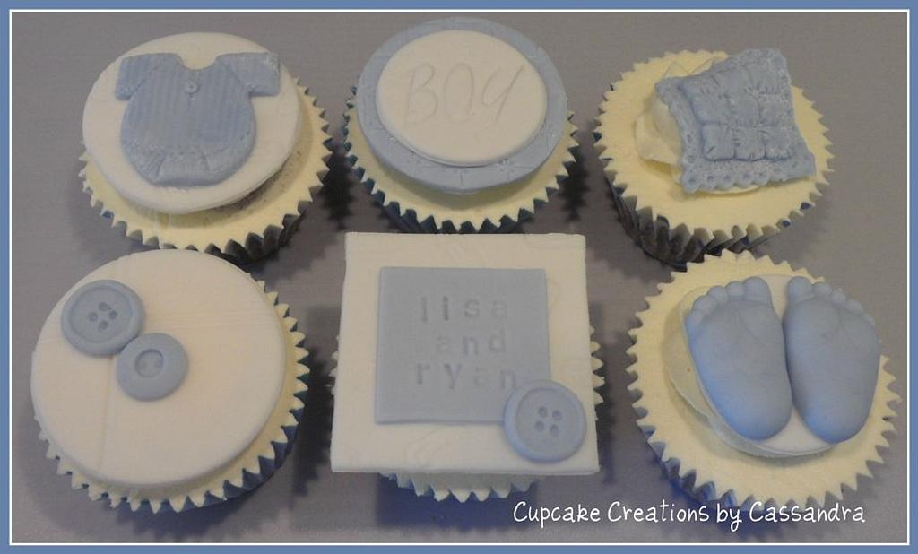Baby Boy Cupcakes by Cupcakecreations