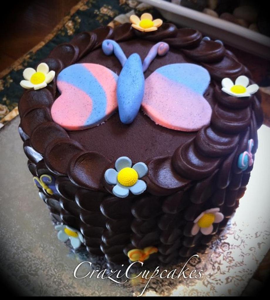 Butterfly Petal Cake by Megan Cazarez