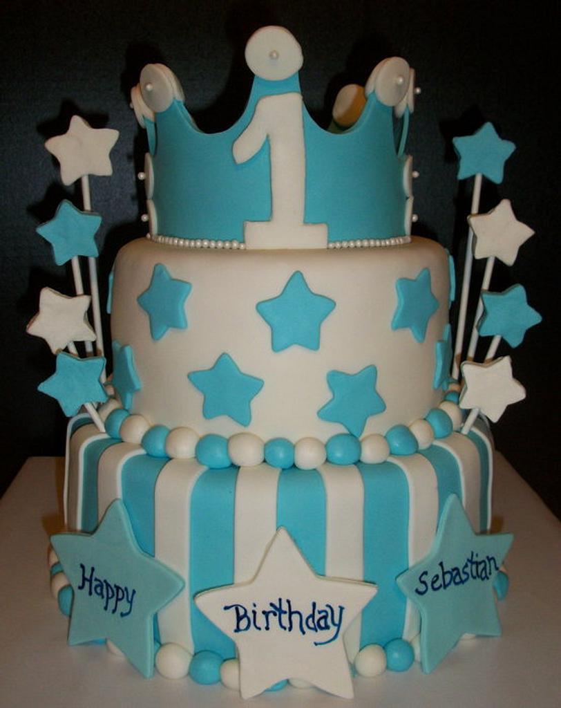 Prince 1st Birthday Cake by Tracy's Custom Cakery LLC