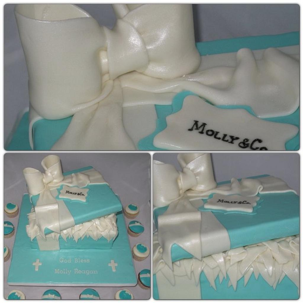 Tiffany box Communion Cake by Jolirose Cake Shop