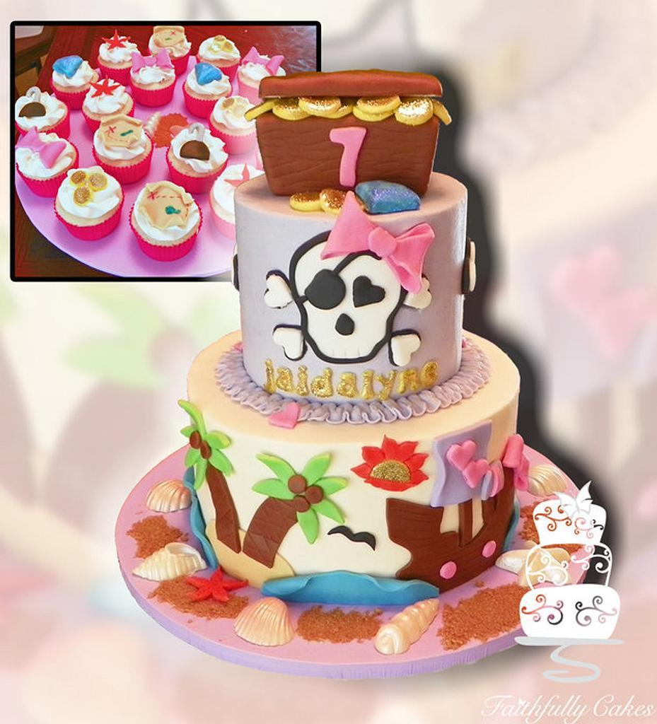 Pirate Girl's Birthday by FaithfullyCakes