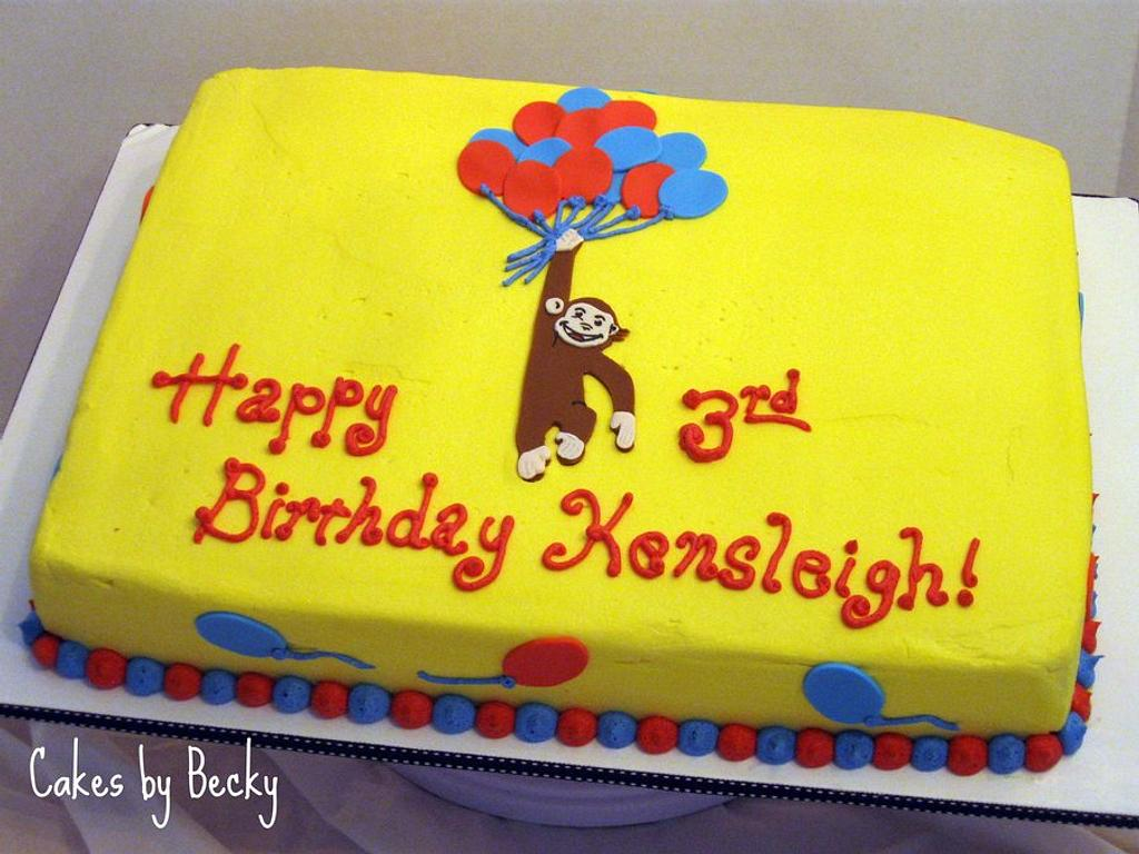Curious George Balloon Birthday by Becky Pendergraft
