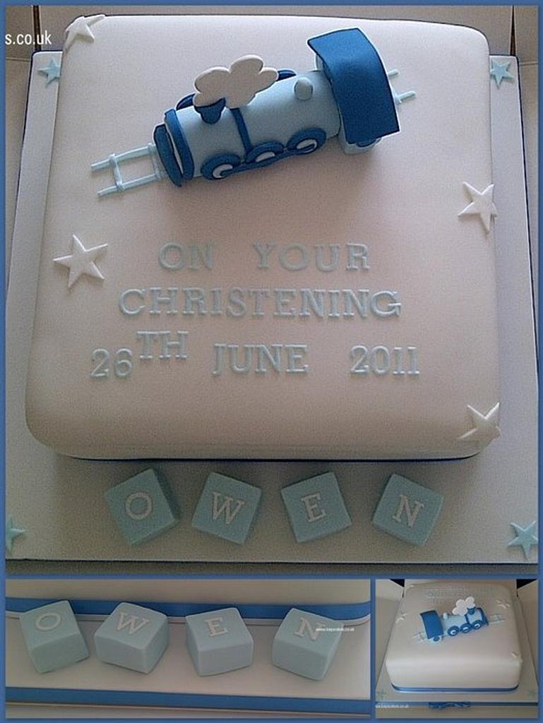 Christening Cake by Kays Cakes