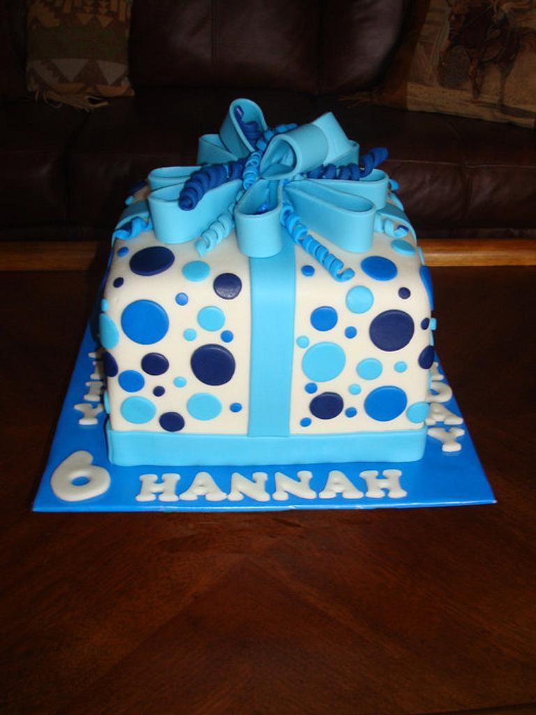 Present Birthday Cake by naughtyandnicecakes