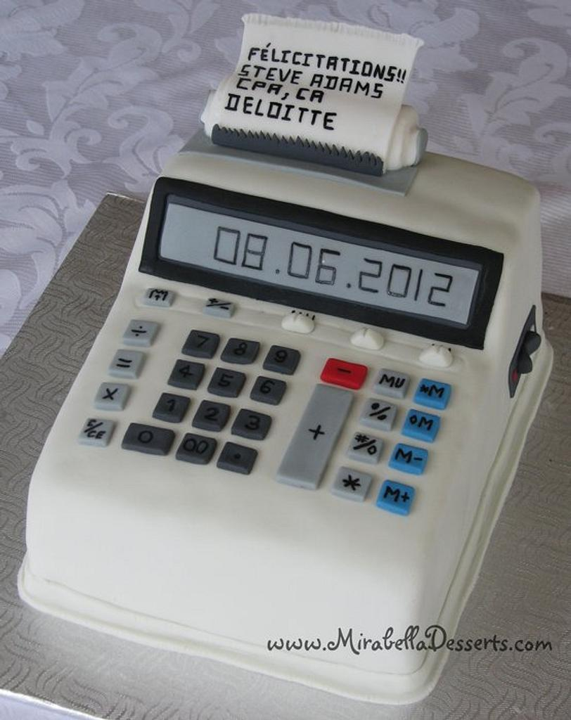 3D Calculator Cake by Mira - Mirabella Desserts