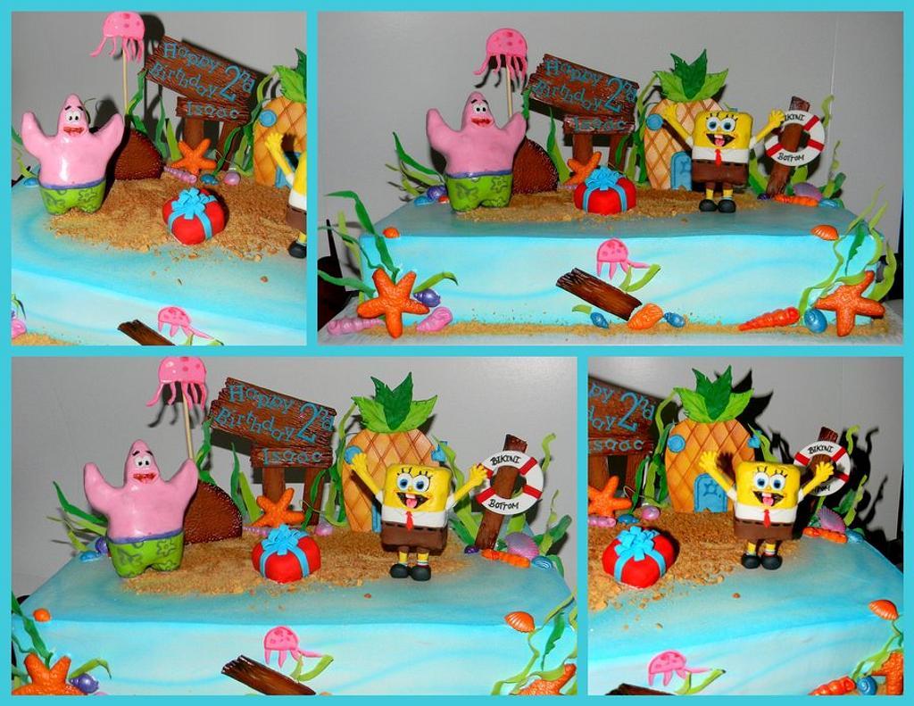 SpongeBob and Patrick under Bikini Bottom by Day