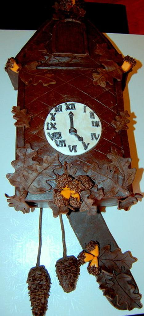 Coo Coo Clock Cake by AngieW