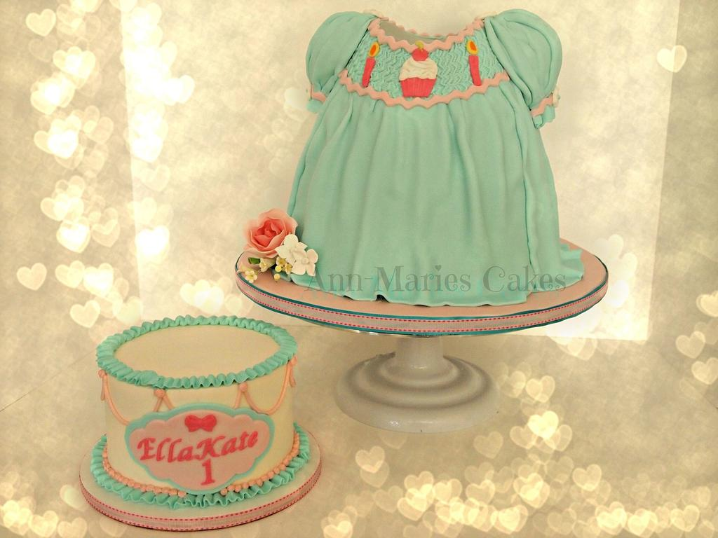 Ist Birthday Dress Cake by Ann-Marie Youngblood