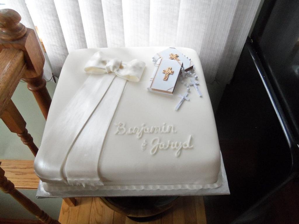 Boy communion cake by Jennifer Bento