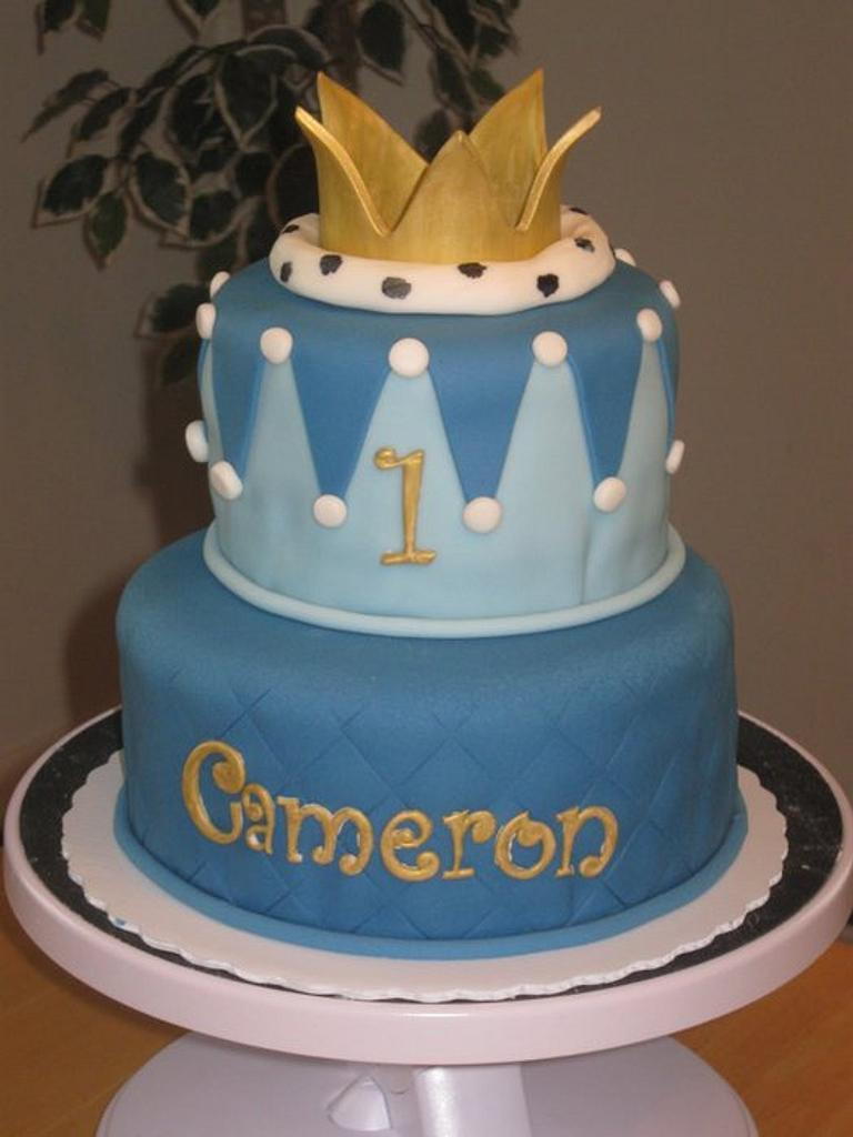 Little Prince First Birthday Cake by Becky Pendergraft