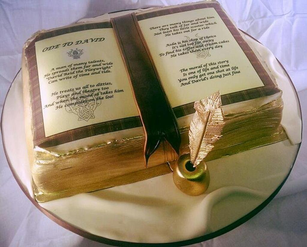 Old fashioned book cake by Lisa Wheatcroft