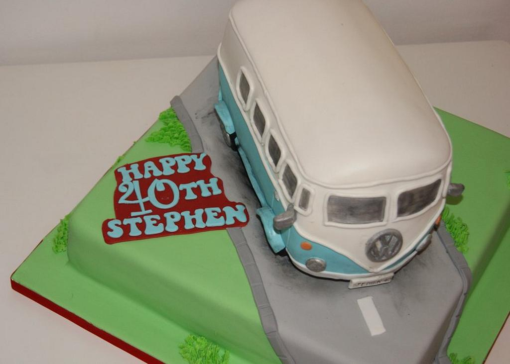 Volkswagen camper van by thesweetlittlecakery