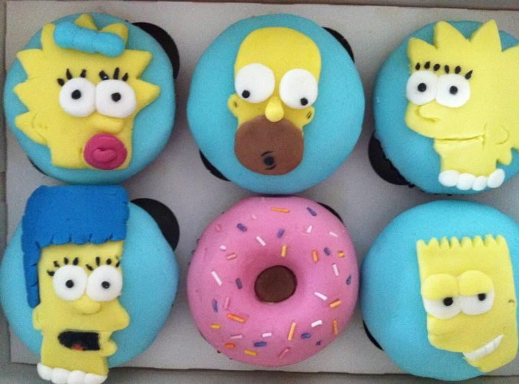 Simpsons Cupcakes by cakesbyclaire
