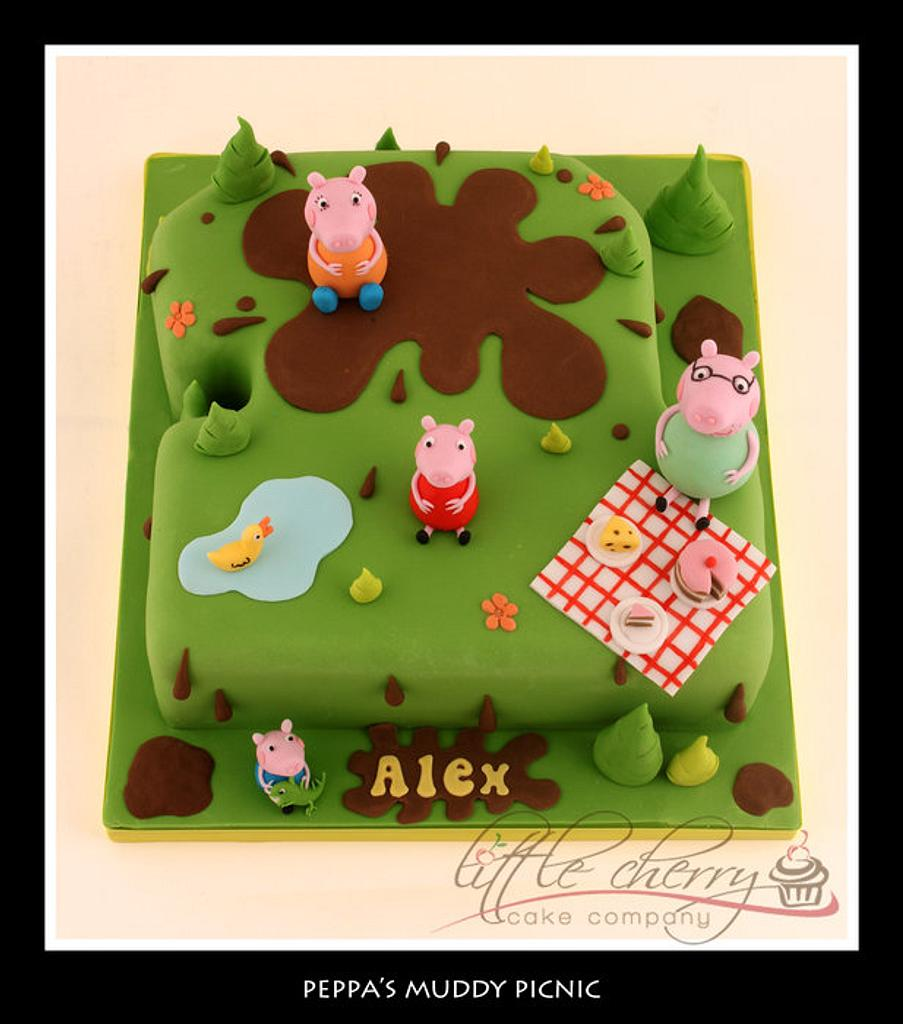 Peppa Pig Cake by Little Cherry