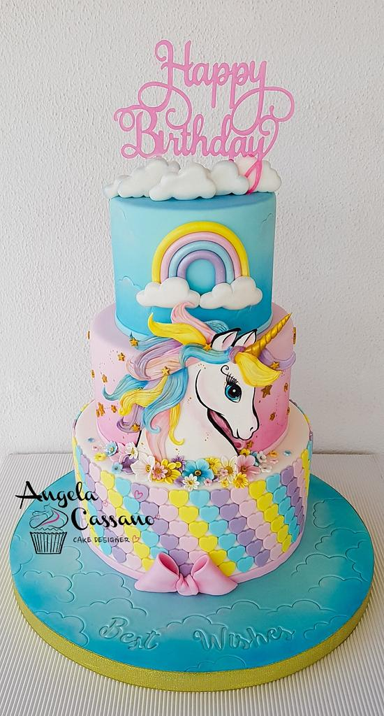 Unicorn cakes  by Angela Cassano