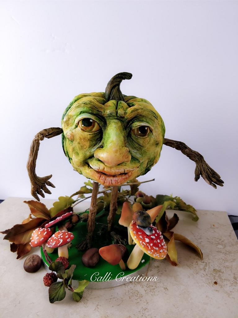 Pumpkin head by Calli Creations