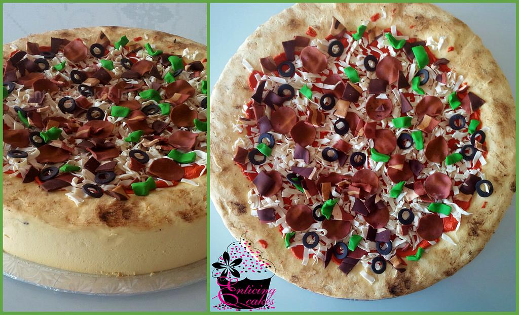 """16"""" Deep Dish Pizza by Enticing Cakes Inc."""