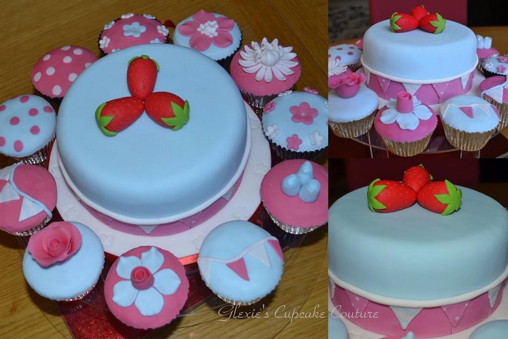 Cath Kidston inspired cake/cupcakes by glenda