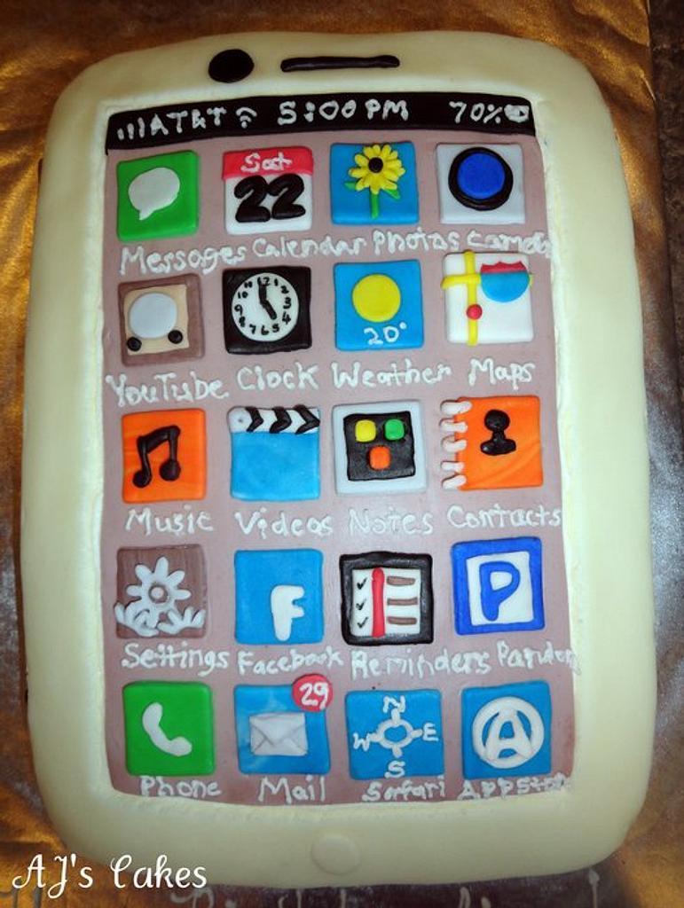 I Phone Cake by Amanda Reinsbach