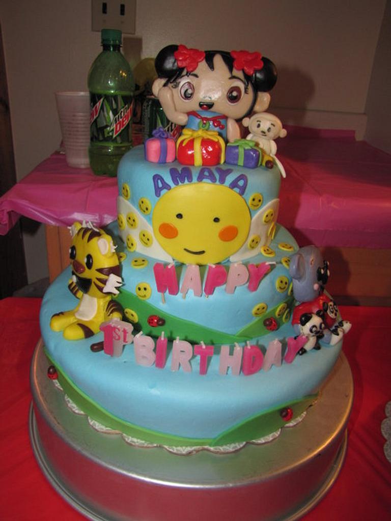My daughters Kai Lan 1st Birthday cake by Tiffany Palmer