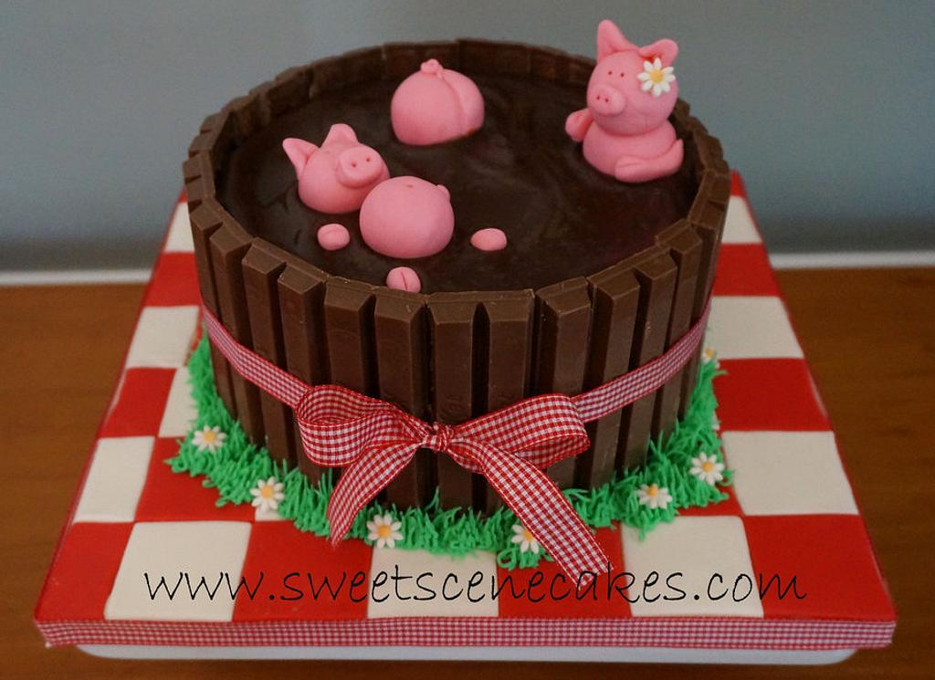 Pig Pickin Pigs in the Mud cake by Sweet Scene Cakes