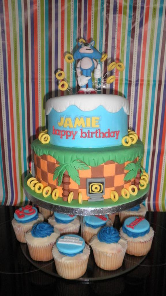 sonic the hedgehog by Cakes galore at 24