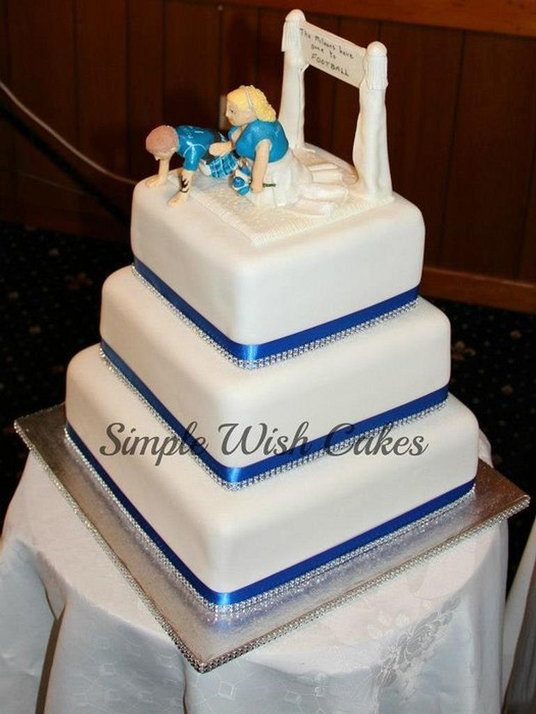 3 tier Square wedding cake by Stef and Carla (Simple Wish Cakes)