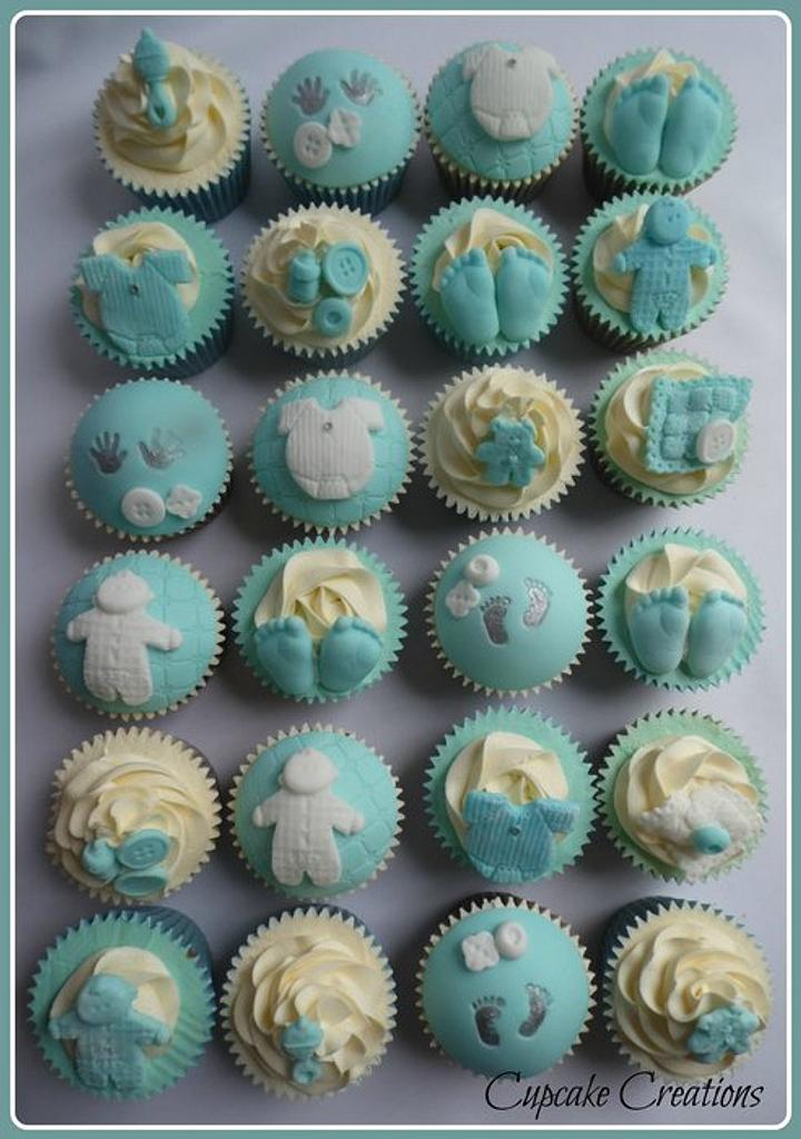 Baby Shower Cupcakes by Cupcakecreations