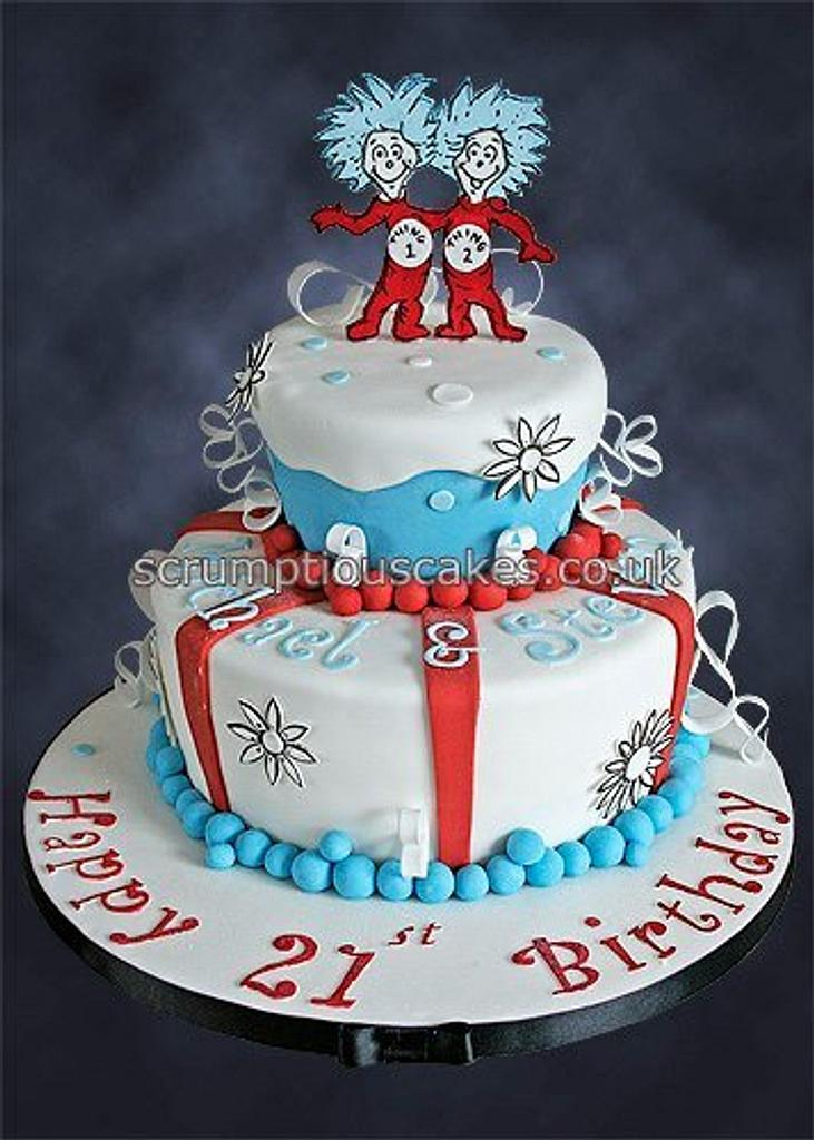 Thing 1 and Thing 2 by Scrumptious Cakes