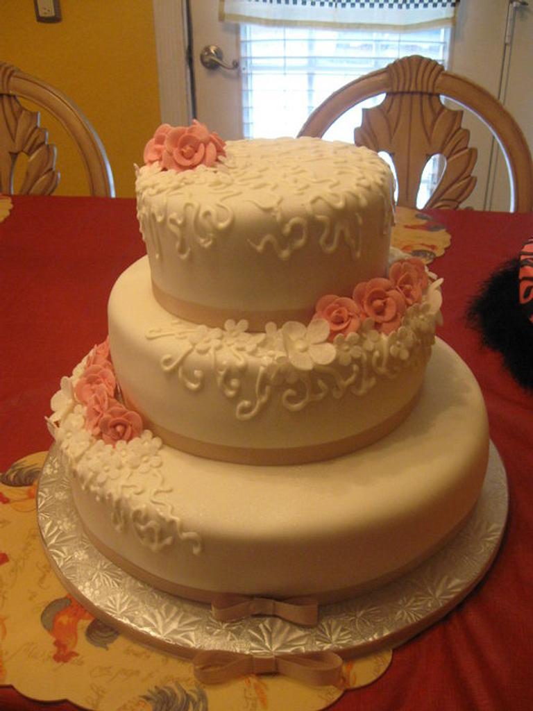 wedding cake by 3babycakes